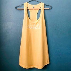 NEW Inspiration Fitness Tank Yellow L